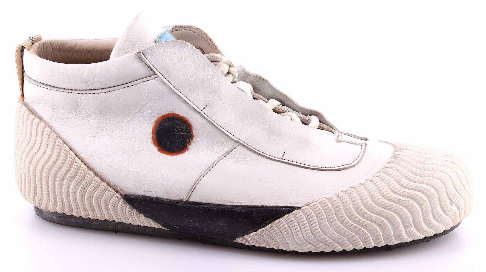 Scarpe Sneakers Uomo Pelle MOMA 13501-6 Softy White Pelle Uomo Bianco Vintage Estremo Nuove 9319ce