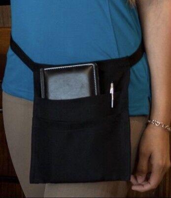 2 Pocket New black server apron Cocktail Money Pouch Waist waiter waitress Name