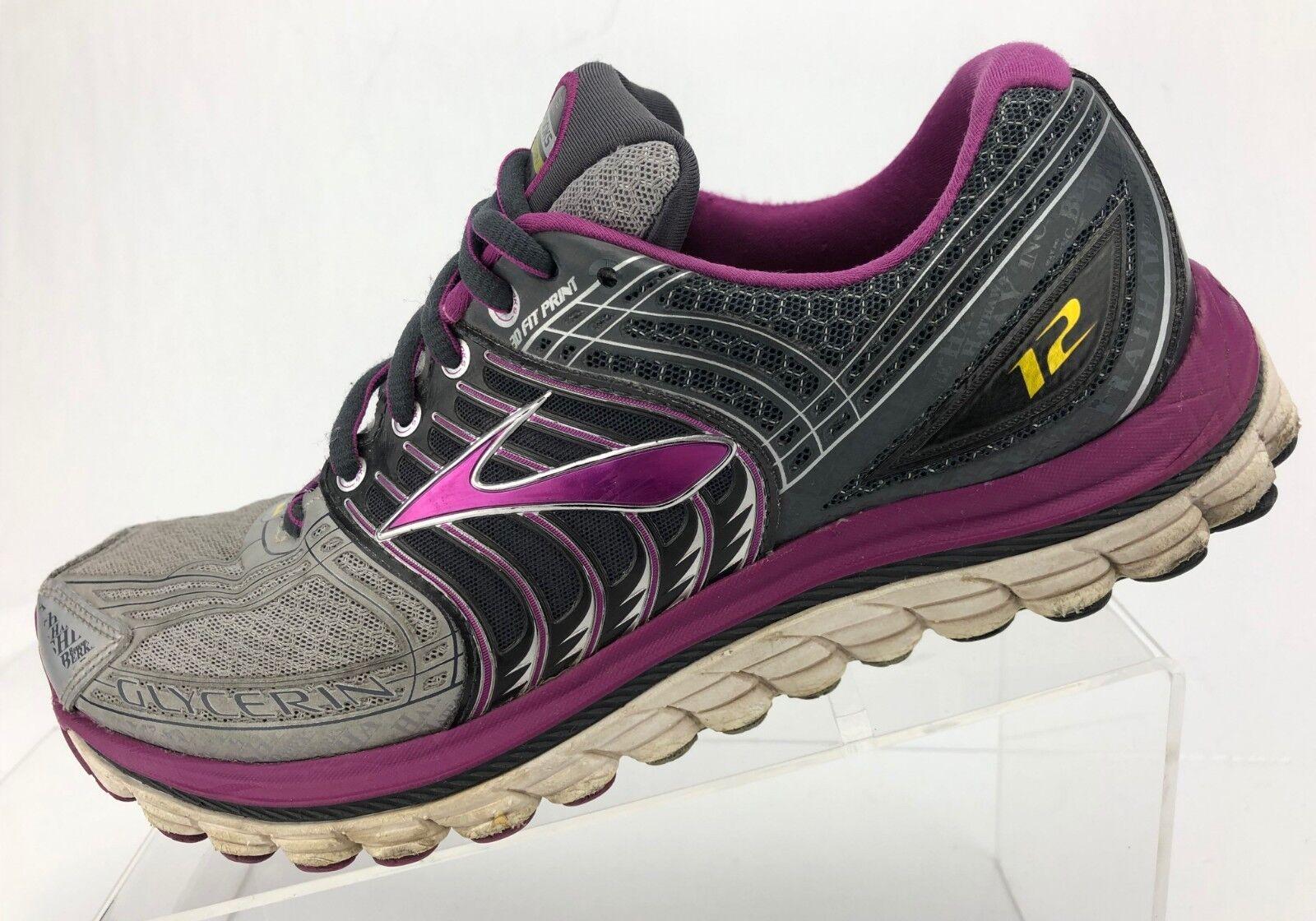 ordene ahora los precios más bajos Brooks Glicerina 12 Zapatillas Entrenamiento Atlético púrpuraa gris para para para Mujer 9.5 B  solo para ti
