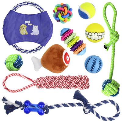11er Set Hunde Spielzeug Aus Seil Kauspielzeug Hundespielzeug Hund Welpen Kauen Rheuma Und ErkäLtung Lindern