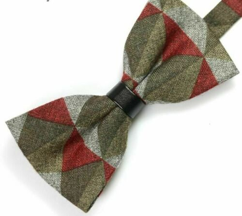 Classic Cotton Wool Fashion Neck-wear Adjustable Pre-Tied Bow-ties For Adult Men