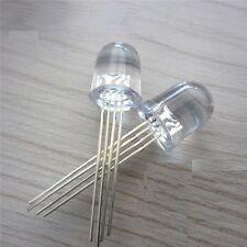 10PCS LED RGB 10MM common cathode 4-PINS Super Bright Bulb Lamp