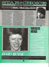 DAVID BOWIE Fantastic Voyage lyrics magazine PHOTO/ Poster/clipping 11x8 inches