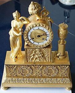 Empire-franzoesische-Bronze-Pendule-um-1810-Bacchus