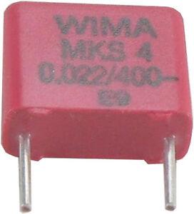 10-St-WIMA-MKS-4-Kondensator-0-022-F-22nF-22-000pF-400VDC-10-RM-7-5-akt-Neuware