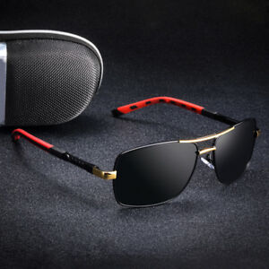 a6ca05e87e6 Image is loading Vintage-Mens-HD-Polarized-Sunglasses-Square-Driving-Glasses -
