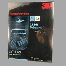 50 Sheets 3M CG3300 Transparency Film for Laser Printers