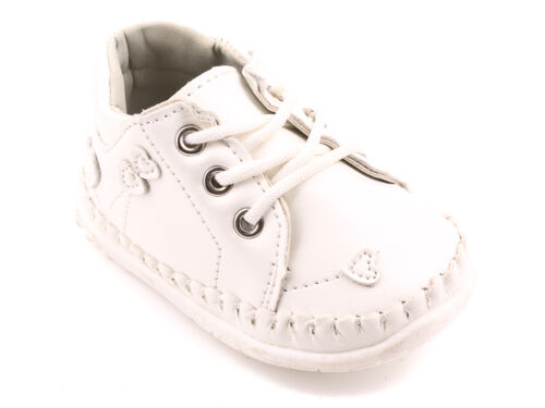 Girls Spring Autumn Hi Top First Soft Shoes Occasion Leather Insole Size UK 1-4