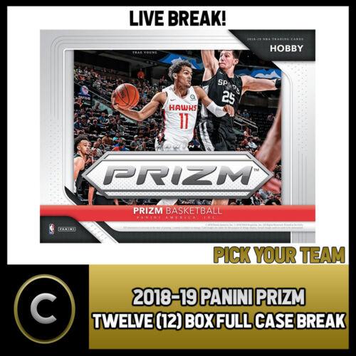 2018-19 PANINI PRIZM 12 BOX BREAK #B055 FULL CASE PICK YOUR TEAM