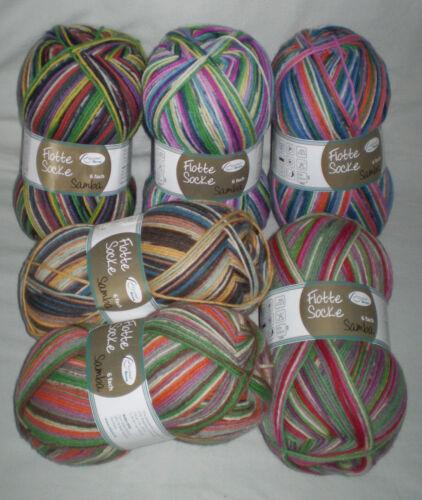 SAMBA 150 gr Sockenwolle von RELLANA 6-fach Musterbildend 5,30€//100gr