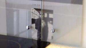 Spritzschutz Glas ESG 6mm, nach maß Küchen Wandschutz ...