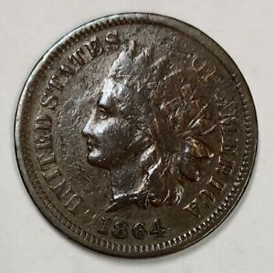 1864-Indian-Head-Cent-1c-Good