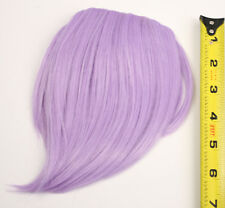 7'' Short Clip on Bangs Lavender Purple Cosplay Wig Hair Extension Accessory NEW
