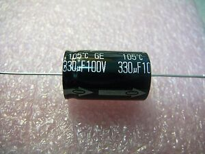 PANASONIC Aluminum Electrolytic Capacitor Axial 330uF 100V 20/%  **NEW** Qty.1