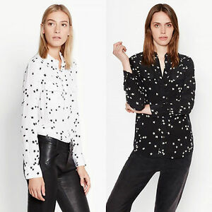 484c3127c444a5 New Equipment SLIM SIGNATURE SILK SHIRT BLACK STAR BRIGHT WHITE STAR ...