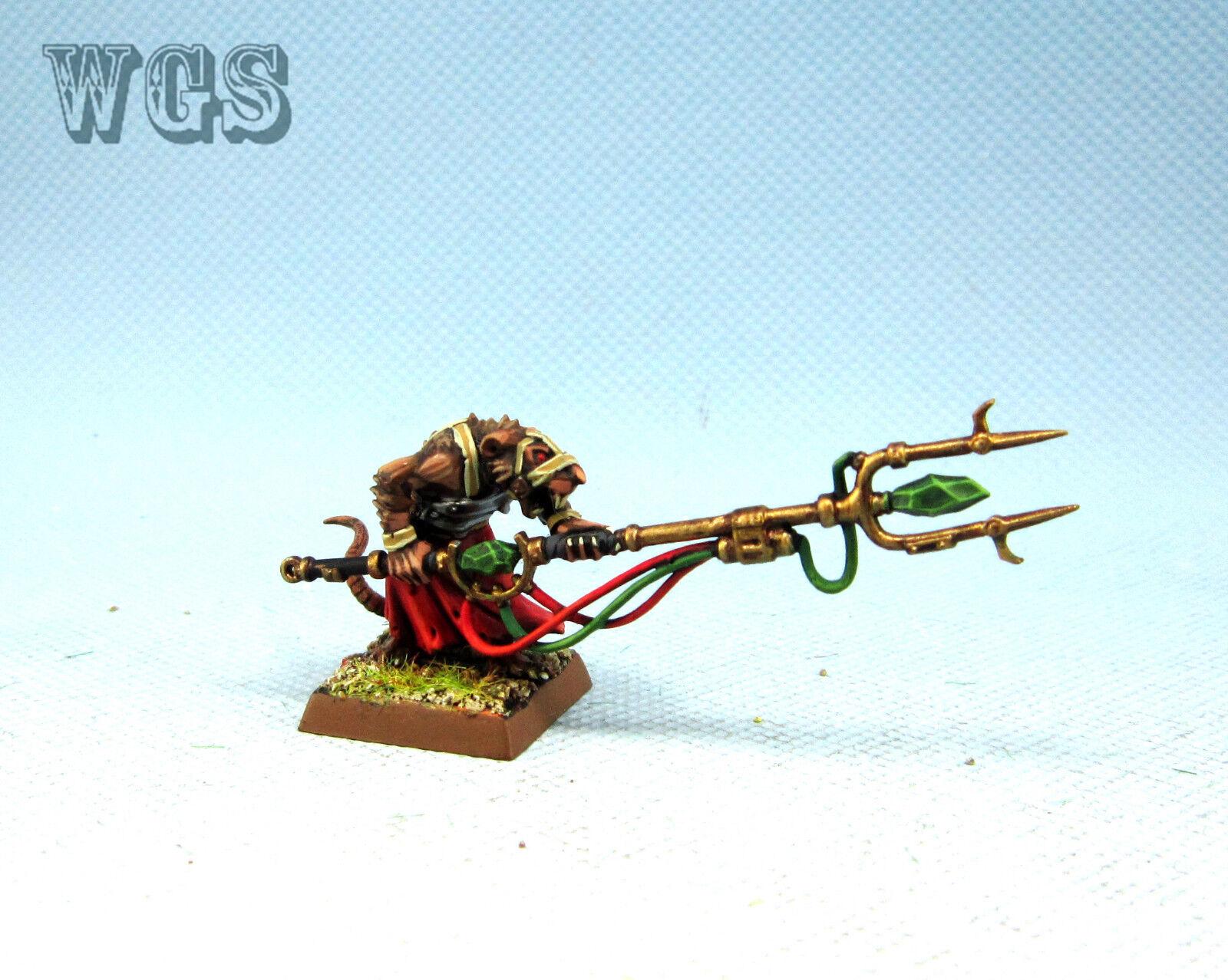 25mm Warhammer fantasyc WGS painted  Skaven Master Moulder SK053  in linea
