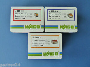 Wagoklemmen-SET-25x222-412-25x222-413-25x-222-415-WAGO-Klemmen-Serie-222