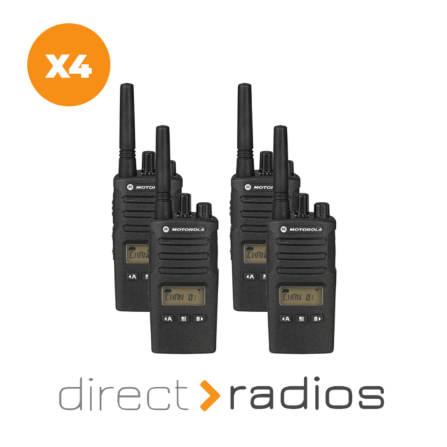 4 x Motorola XT460 QUAD PACK PMR446 Walkie Talkie Two Way Radio With Chargers
