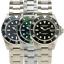 Orologio-Spalding-amp-Bros-Blu-Nero-Verde-Diver-Uomo-Water-Resistant-20-atm-acciai miniatura 1