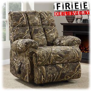 Recliner Rocker Camo Chair Armrest Lounge Lazy Boy Sofa Camouflage ...