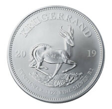 2019 South Africa 1 oz Silver Krugerrand 1 Rand Coin GEM BU SKU56598