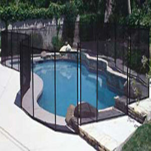 Eskott safety fence black 4 39 x10 39 section for inground swimming pool mesh ebay for Swimming pool safety fence prices