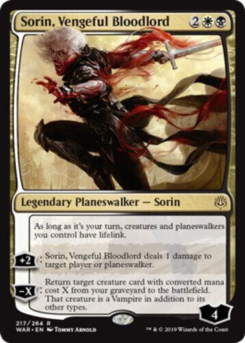x1 Sorin English Vengeful Bloodlord MTG War of the Spark R M//NM
