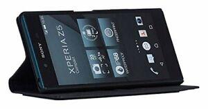 Beyzacases-Genuine-Leather-Arya-Folio-Case-for-Sony-Xperia-Z5-Compact-Black