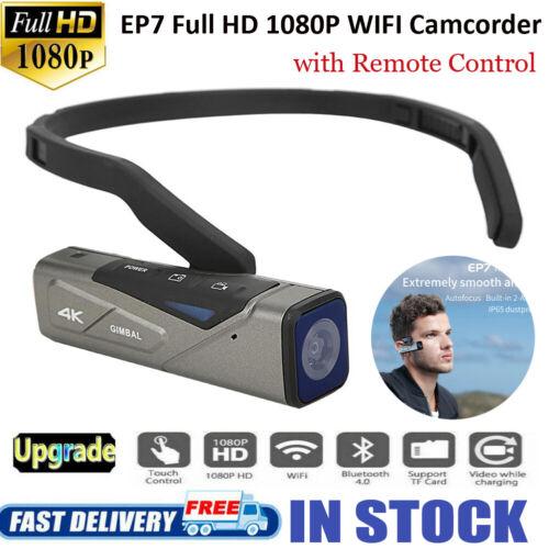 Cámara Digital desgaste de cabeza de actualización de Ordro EP7 Videograbadora Mini HD 1080P 4K WIFI Vide
