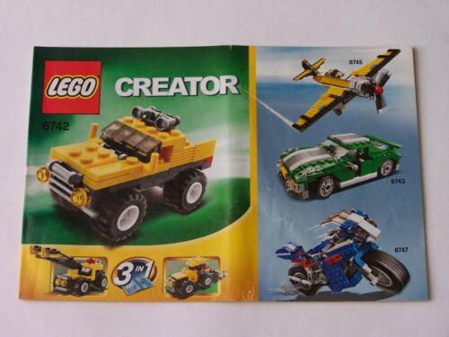 LEGO® Bauanleitung Instruction Nr 6742