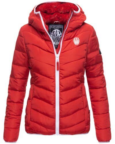 Navahoo Damen WinterJacke Steppjacke gesteppt Outdoor Parka Felljacke Jacke