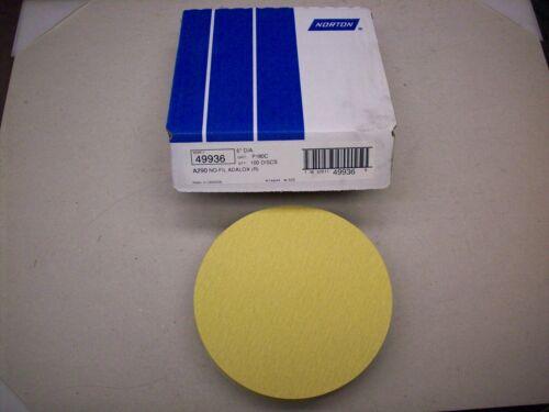 6 inch discs P180C Grit NEW Norton 49936 Sand Paper