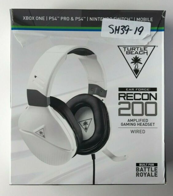Turtle Beach Gaming Headphones | Recon 200 |Wired: White (AB152)