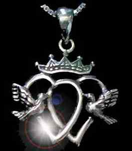COOL-Luckenbooth-Claddagh-Pendant-charm-Sterling-silver-925