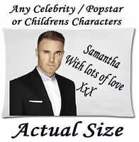 Personalised Pillow Case printed text/photo 50cmx75cm Custom made cushion covers