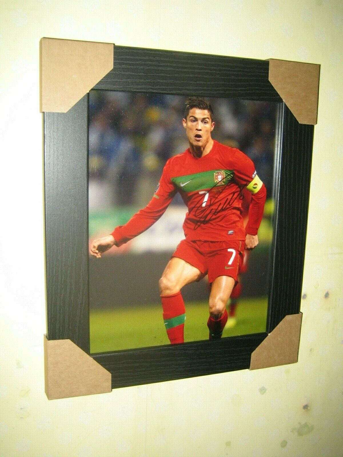 Cristiano Ronaldo  Excellent Hand Signed Photo (8x10) Framed With CoA