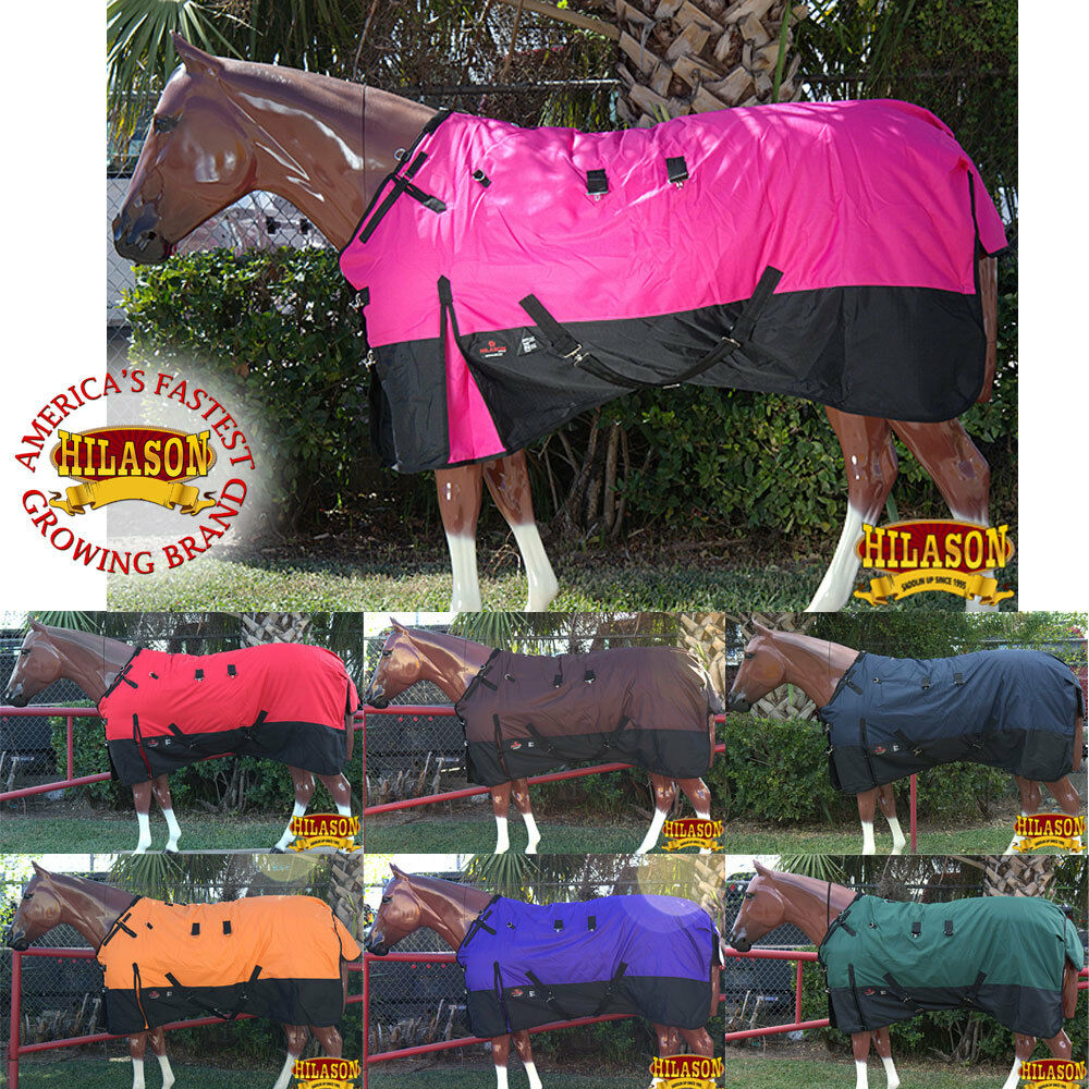 66-84 HILASON 1200D RIPSTOP WATERPROOF TURNOUT WINTER SURCINGLE HORSE BLANKET