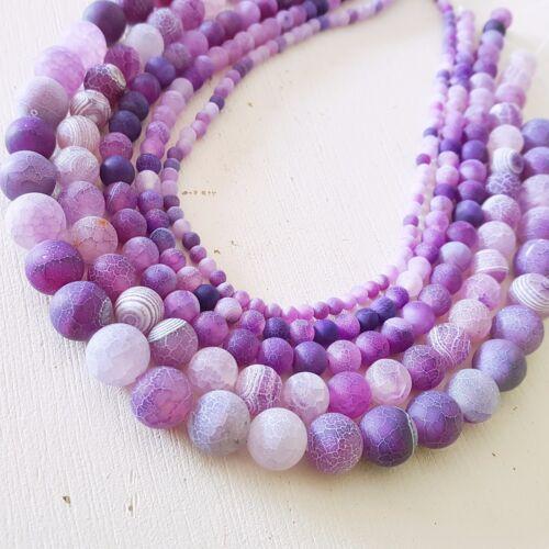 NELLYS Echter AA GRADE Apatit Strang matt  8mm Perlen Edelsteine DIY