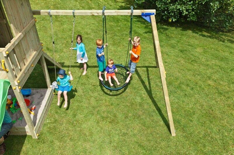 Blau Rabbit® @swing Anbauschaukel Doppelschaukel Schaukel Spielturm Holzschaukel