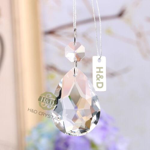 H/&D 5X Clear Suncatcher Chandelier Cut Crystal Prism Part Hanging Pendant 50mm