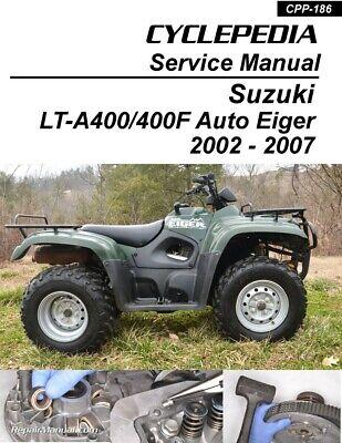 Suzuki Auto Shifter Eiger LT A400 400F ATV Printed Service Manual EBay