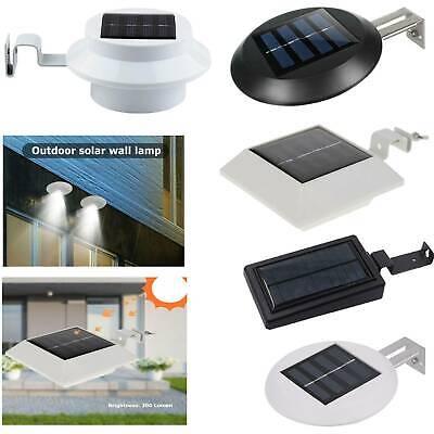 12 LED Solar Powered Light Outdoor Garden Security Wall Fence Gutter Yard Lights
