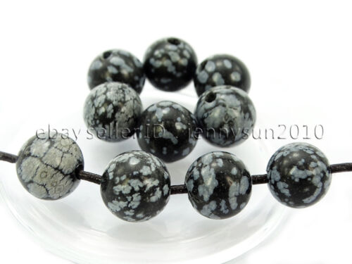 2mm 20Pcs Natural Gemstones Stone Big Hole Round Loose Beads 6mm 8mm 10mm 12mm