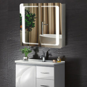 Bathroom Led Lighted Mirror Cabinet Shaver Socket Wall Anti Fog Bluetooth Sensor Ebay