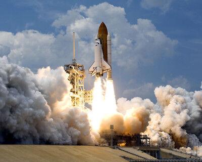 SPACE SHUTTLE ATLANTIS STS-125 LIFTOFF 8x10 PHOTO NASA