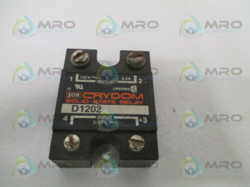 USED * Details about  /CRYDOM D1202 SOLID STATE RELAY