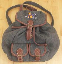 Vintage Disney Store Winnie The Pooh Winter Embroidered Wool Backpack Bag