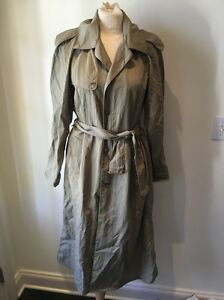 RARE-VTG-BANANA-REPUBLIC-MILL-VALLEY-SAFARI-Classic-BELTED-Rain-Trench-Coat-XS