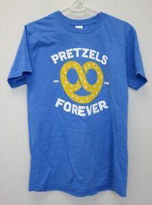 Gildan-Adult-Auntie-Anne-039-s-Softstyle-Pretzels-Forever-T-Shirt-Blue-New