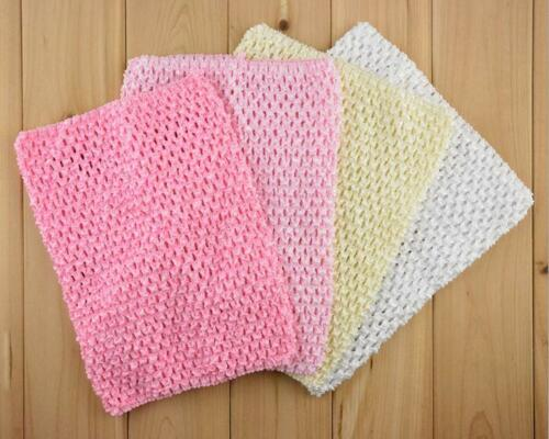 LOT 1-50pcs Toddler Baby Girl 9/'/' Tutu Tube Top Chest Wrap Wide Crochet headband